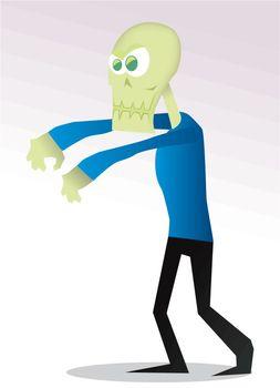 Cartoon zombi