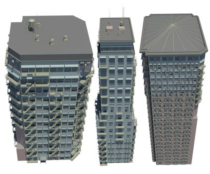 Collection of highly detailed buildings