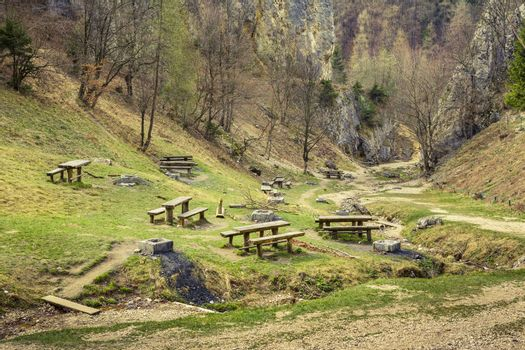 Picnic site in the valley