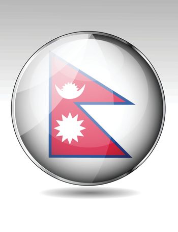 Nepal flag button