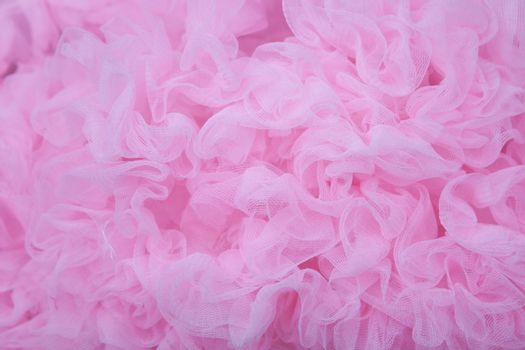 pink textured net fabric background
