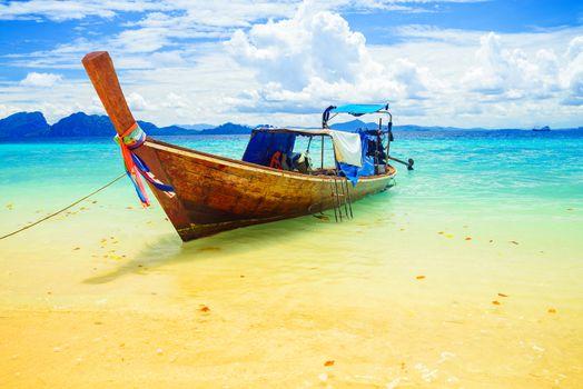 Long tailed boat at Kradan island, Thailand