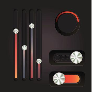 User interface power slider buttons
