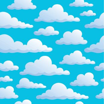 Seamless background clouds on sky - eps10 vector illustration.