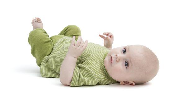 toddler isolated on white background