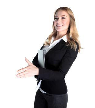 Happy business lady