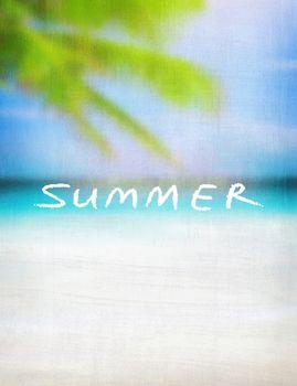 Summer vintage card background