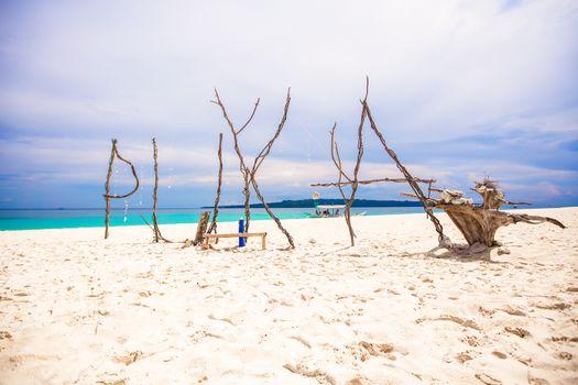Name of the beach Puka made ������of sticks