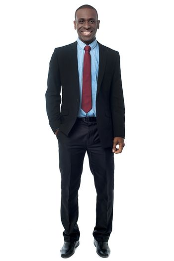Young executive in business suit