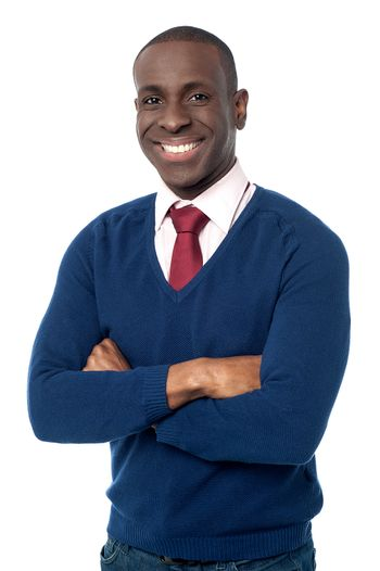 Young african business executive