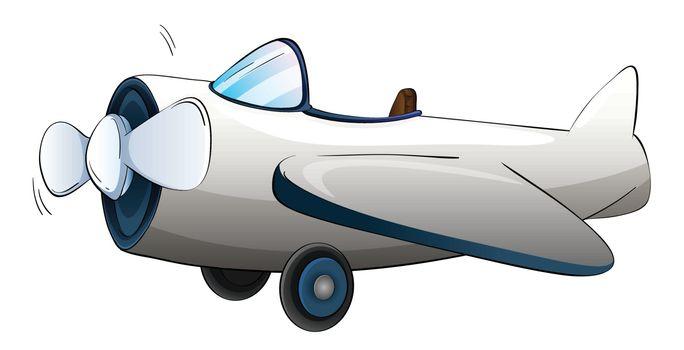 Illustrtion of a plane on white