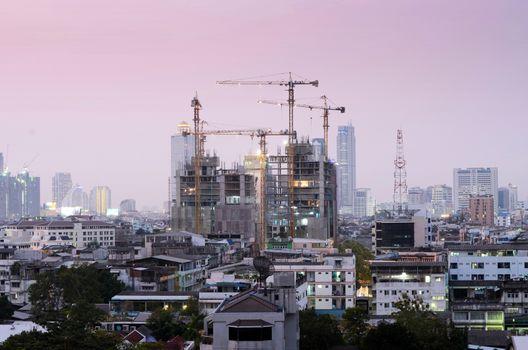Construction site building at  Bangkok