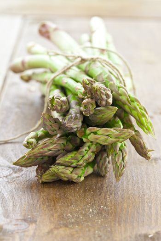 Fresh asparagus in a bundle