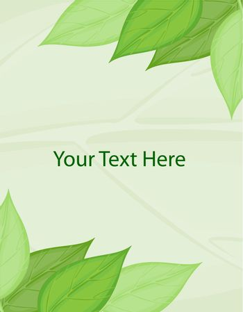 Blank template with leaf border