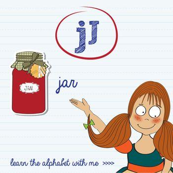 alphabet worksheet of the letter j