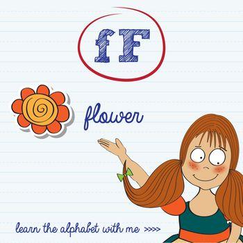 alphabet worksheet of the letter f