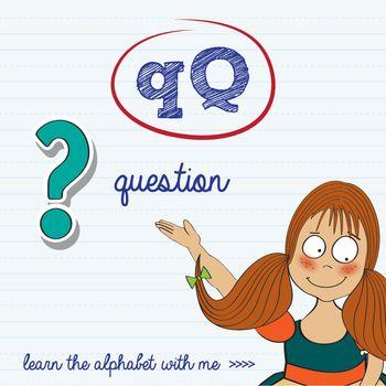 alphabet worksheet of the letter q