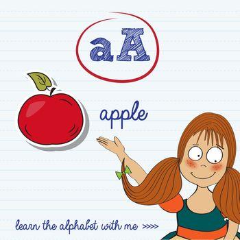alphabet worksheet of the letter a