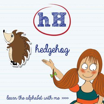 alphabet worksheet of the letter h