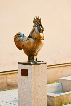 Cockerel on a pedesta
