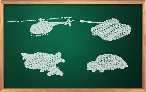 Illustration of transportation in chalk