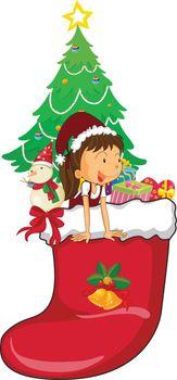 girl celebrating christmas