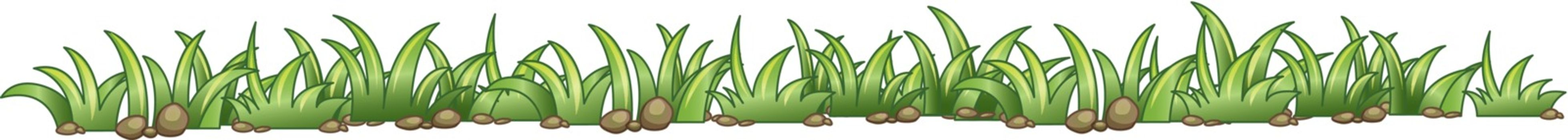 Illustration of a grass texture