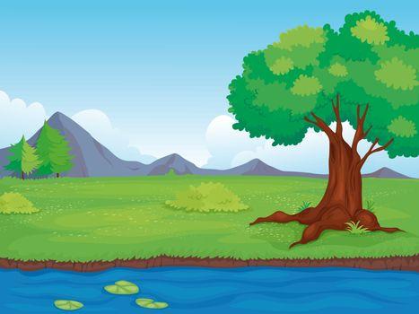 Illustration of an empty rural landscape