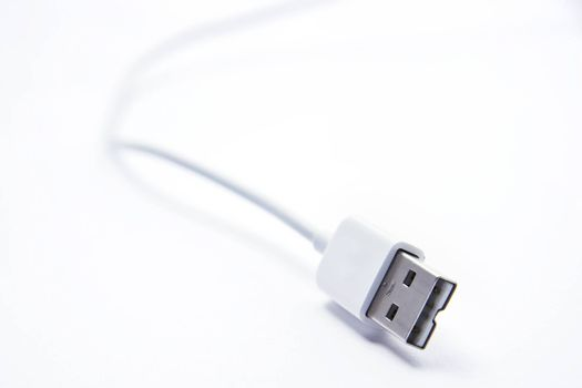 USB Jack on white background