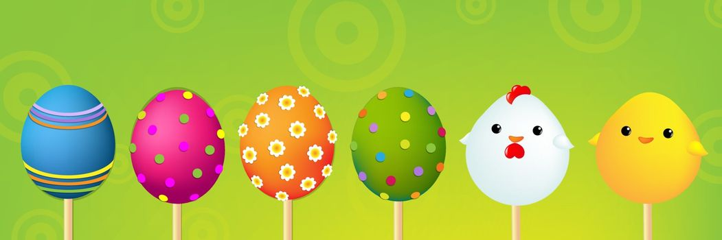 Colorful Easter Header