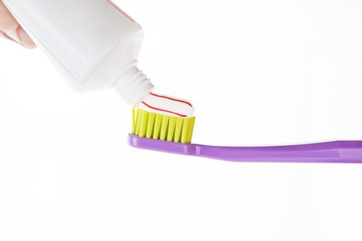 Toothpase on toothbrush
