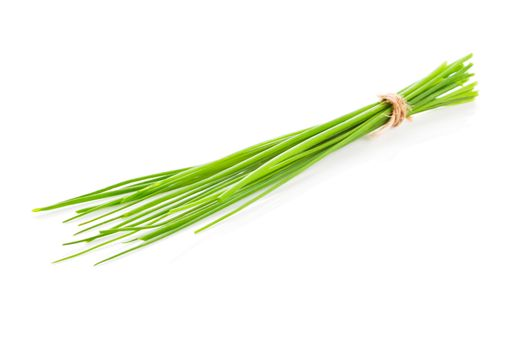 Chive bundle isolated.