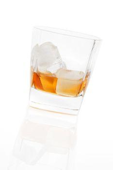 Whiskey isolated.