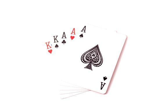 Full-house set of cards isolated on white background