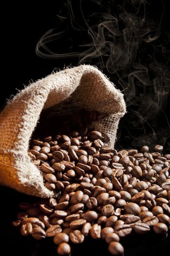 Smell of roasted coffee.