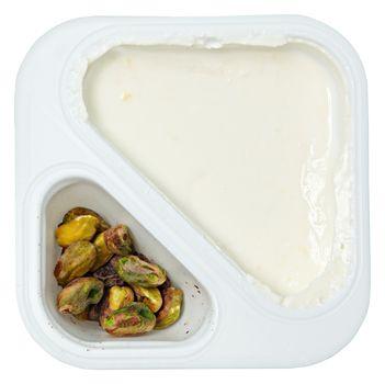 Peach Flavored Greek Yogurt with Pstachio Sprinkles