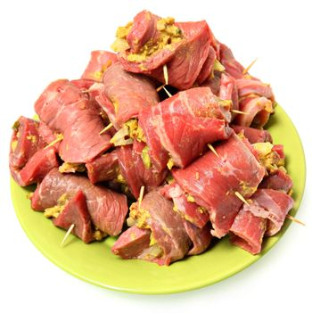 Raw Prepared German Beef Roulade Ready to Cook