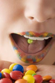 multicolor lips