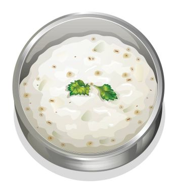 illustration of indian food on a white background