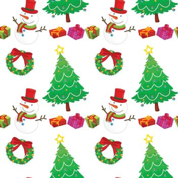 detailed illustration of christmas festical celebration accessories