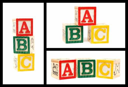Wooden Alphabet Blocks-ABC