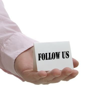 Follow us - sign seriers