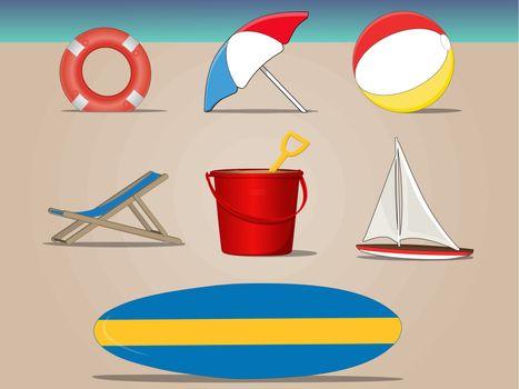 Beach Icon Set