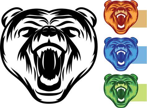 Bear Mascot Set