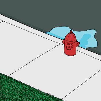 Leaking FIre Hydrant