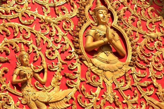 Decoration of a roof, Wat Si Saket, Vientiane, Laos