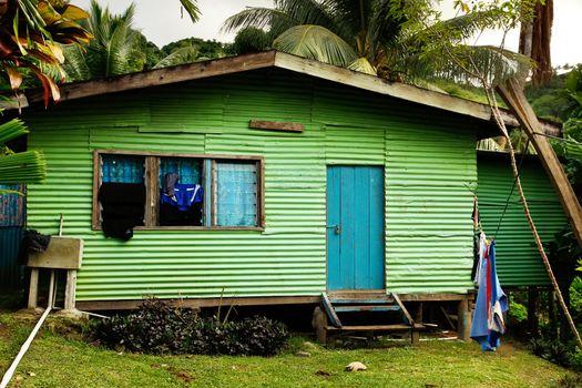 Local house, Vanua Levu island, Fiji