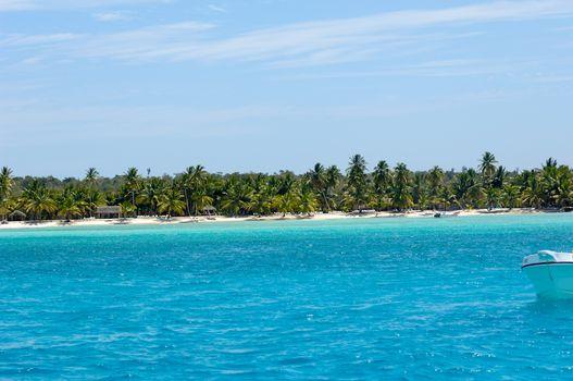 Island with beautiful beach