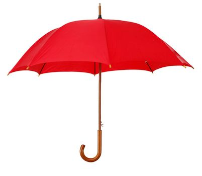 Big umbrella, isolated on white