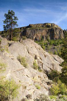 Rocky Ridge Outcroppings Near Banks Lake Washington State